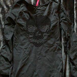Skull mini dress w/garters